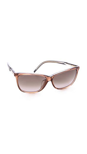Gucci Special Fit Pointed Sunglasses