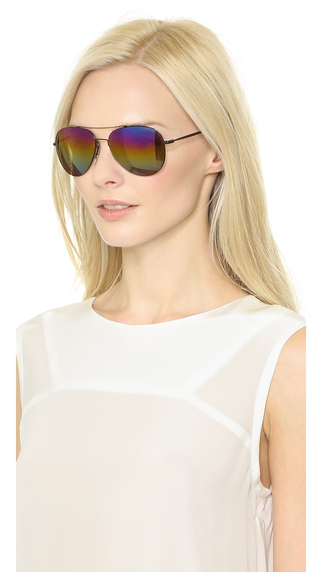 5d1776dcf61dc Gucci Rainbow Mirrored Aviator Sunglasses
