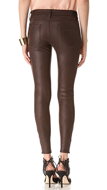 Habitual Amalia Zip Coated Skinny Pants