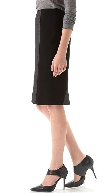 Hakaan Tonal Black Pencil Skirt