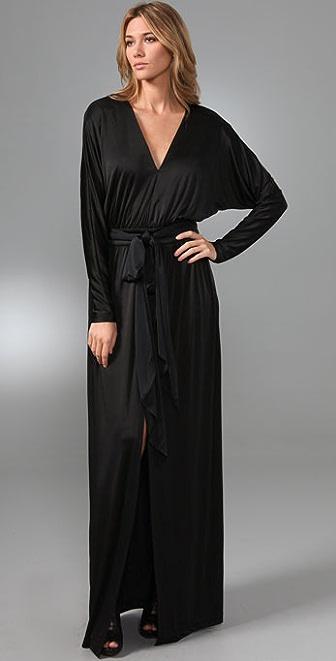 Halston Heritage Kimono Long Dress