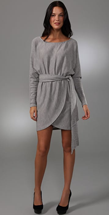 Halston Heritage Off Shoulder Sash Dress