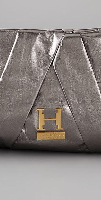 Halston Heritage Alice Pleated Clutch
