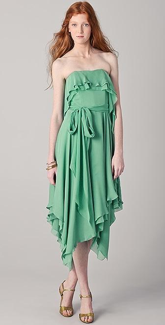 Halston Heritage Handkerchief Dress