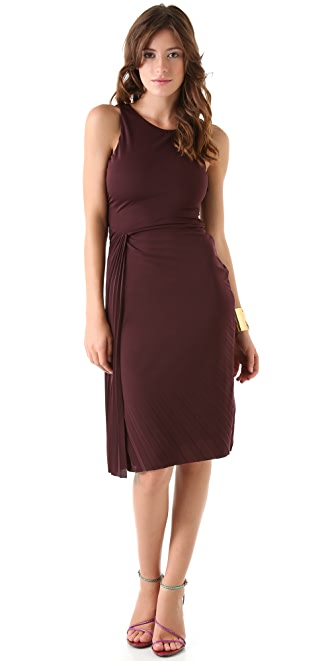 Halston Heritage Interlock Ruched Dress