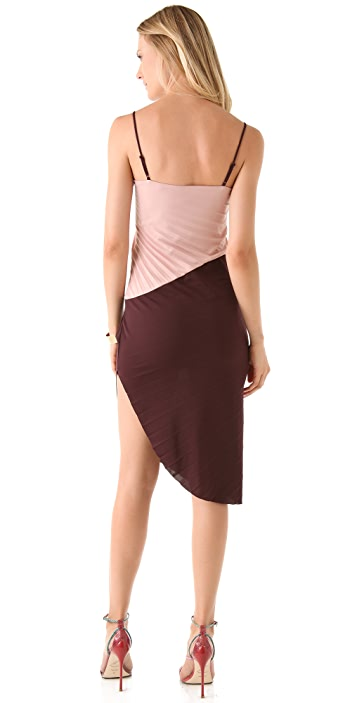 Halston Heritage Colorblock Interlock Dress