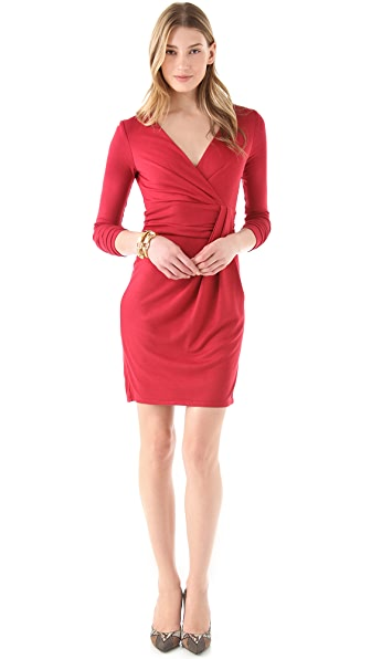 Halston Heritage Wrap Front Dress