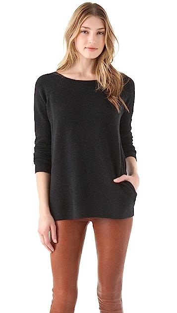 Halston Heritage V Back Sweater