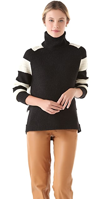 Halston Heritage Stripe Slubbed Sweater