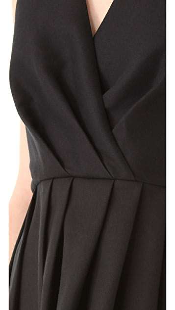 Halston Heritage Crossover Halter Dress