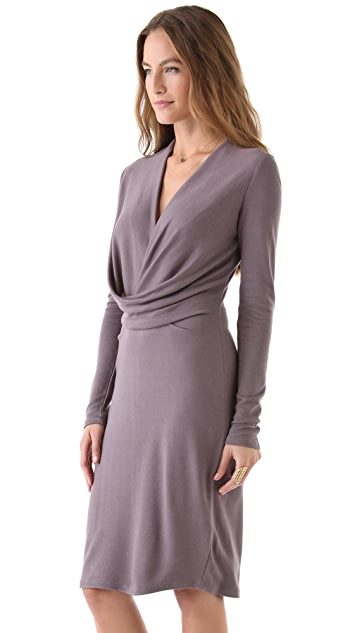 Halston Heritage Drape Front Dress