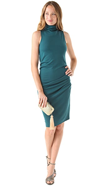 Halston Heritage Draped Waist Dress