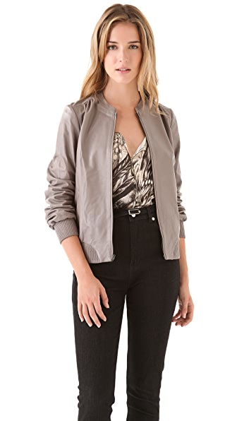 Halston Heritage Leather Jacket