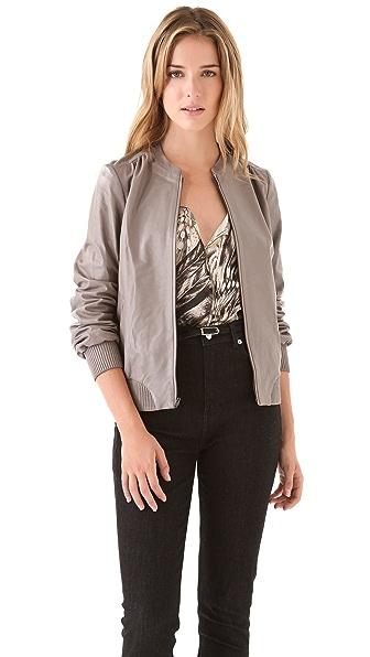 Halston Heritage Leather Jacket