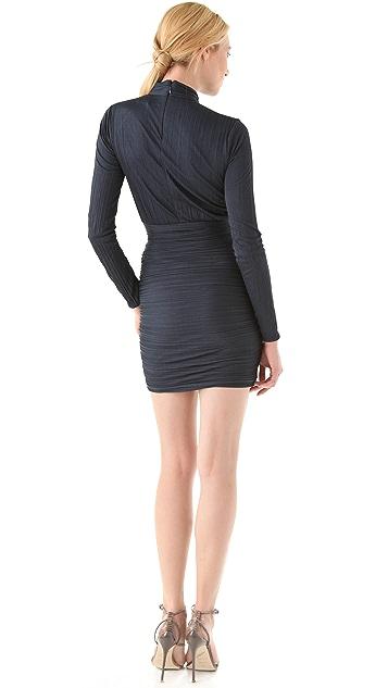 Halston Heritage Pleated Dress with Slit