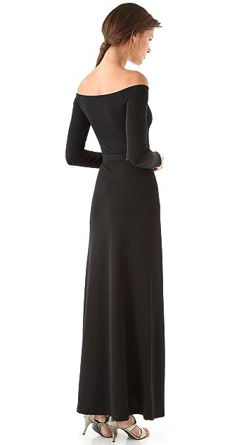 Halston Heritage Off Shoulder Gown