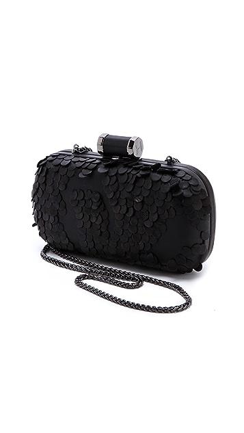 Halston Heritage Leather Petal Minaudiere