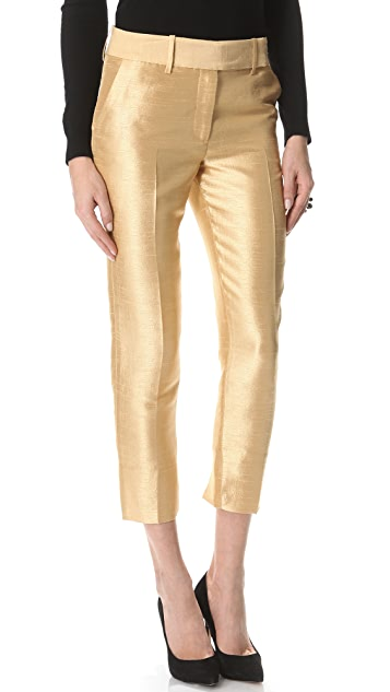 Halston Heritage Dupioni Cropped Pants