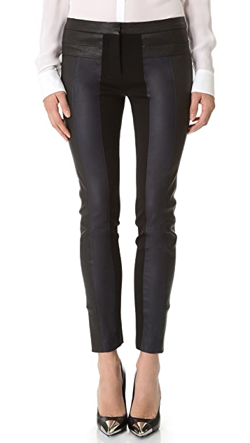 Halston Heritage Leather Ankle Pants