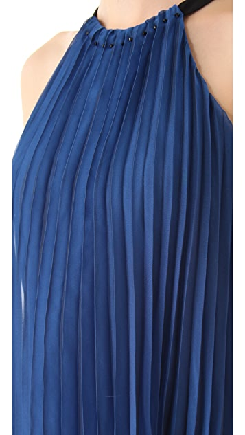Halston Heritage Accordion Pleat Dress