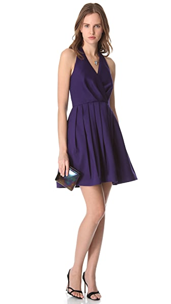 Halston Heritage Faille Halter Dress