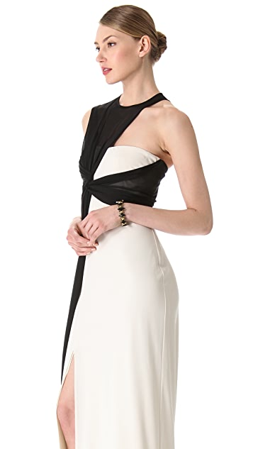 Halston Heritage Side Drape Gown