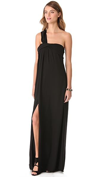Halston Heritage One Shoulder Gown