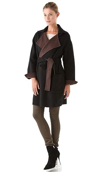 Halston Heritage Bicolor Coat
