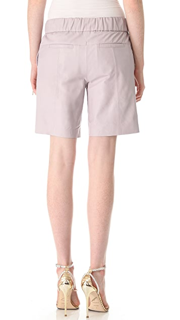 Halston Heritage Leather Shorts