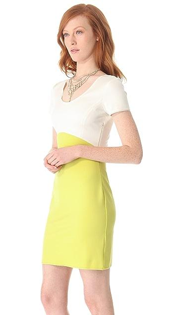 Halston Heritage Colorblock Ponte Dress