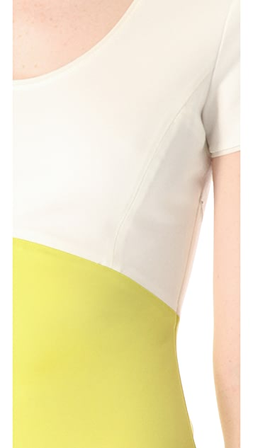 Halston Heritage Colorblock Ponte Dress
