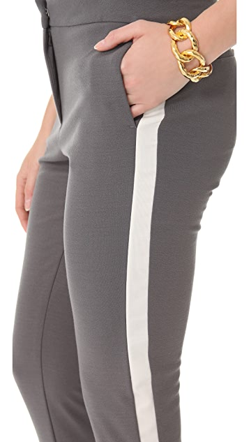 Halston Heritage Tuxedo Stripe Pants