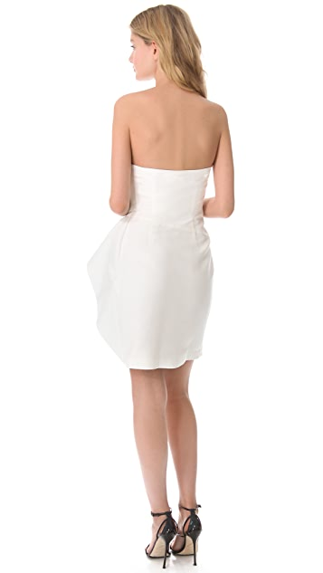 Halston Heritage Ruffled Waist Dress