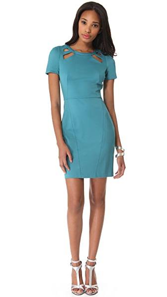 Halston Heritage Sheath Dress with Cutouts