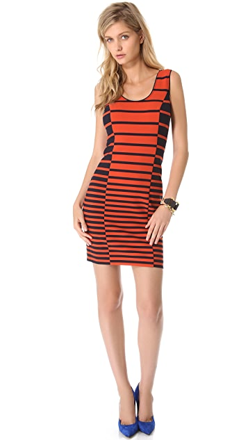 Halston Heritage Stripe Tank Dress