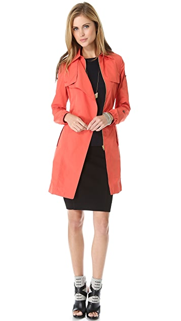 Halston Heritage Long Trench Coat
