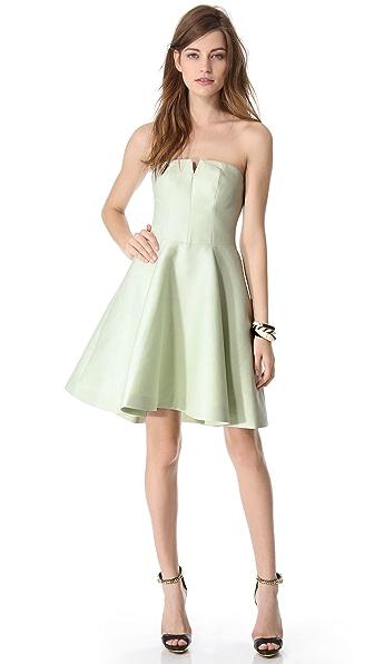 Halston Heritage Structured Strapless Dress