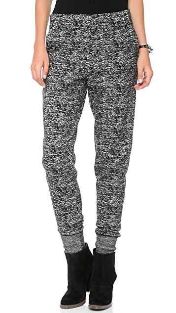Halston Heritage Tapered Leg Knit Sweatpants