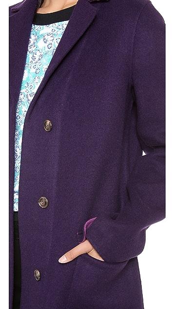 Halston Heritage Double Face Colorblock Coat