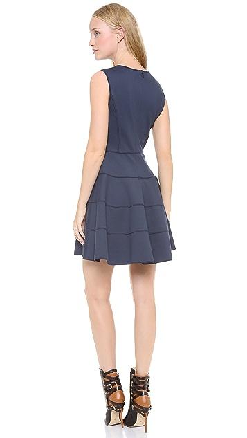 Halston Heritage Flare Skirt Ponte Dress