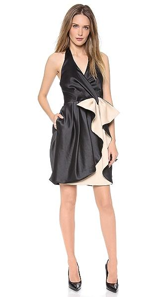 Halston Heritage Halter Bow Dress