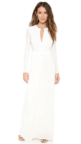 Halston Heritage Front Slit Gown