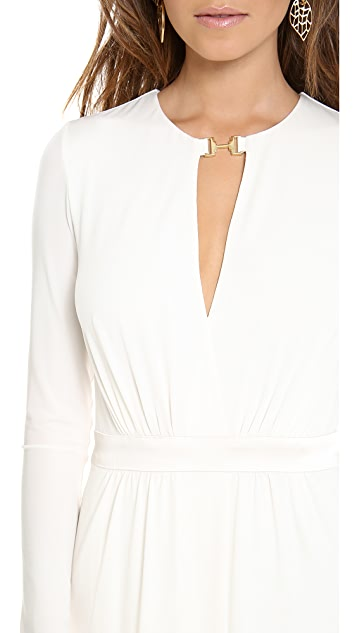 Halston Heritage Front Slit Gown
