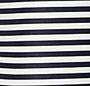 Navy/Chalk Mini Stripe Print