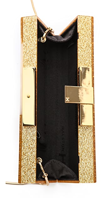 Halston Heritage Rectangular Box Minaudiere