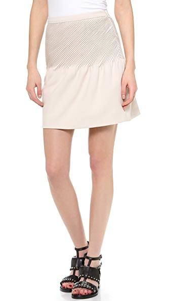 Halston Heritage Tulip Skirt with Pintucks