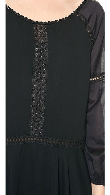 Halston Heritage Bellow Sleeve Off the Shoulder Dress
