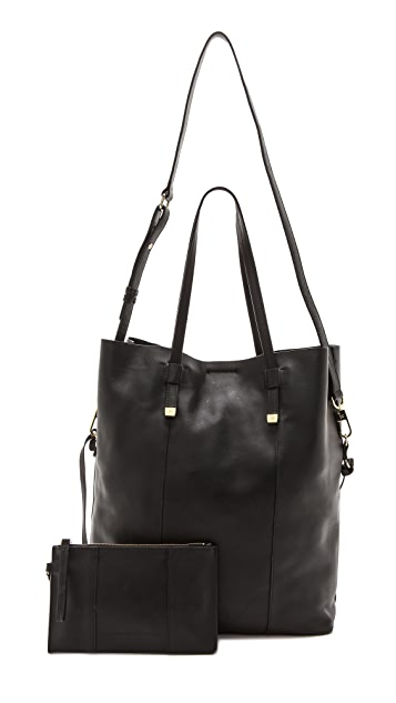 Halston Heritage Fold Over Tote with Pouchette