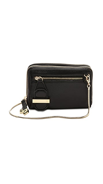 Halston Heritage Mini Double Zippy Wallet