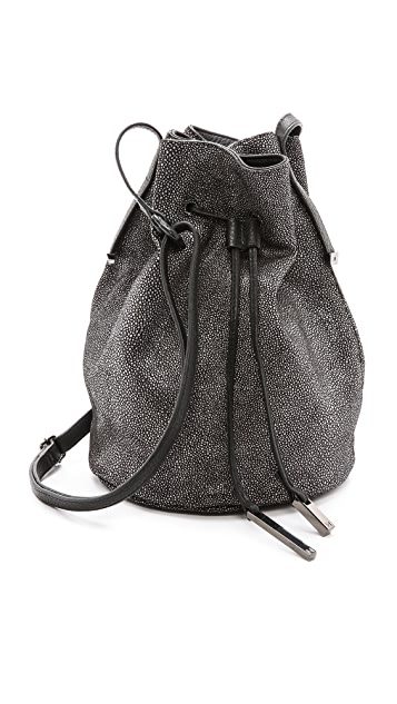 Halston Heritage Embossed Bucket Bag